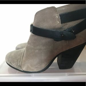 Rag & Bone Harrow bootie in grey suede 38.5